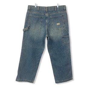 Men's GAP Carpenter Jeans Blue Cotton 40x30 Pocket